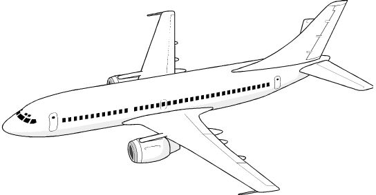 Drawn airplane #15