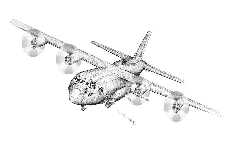 Drawn airplane ac 130 Ac 130 Drawing Dennis 130