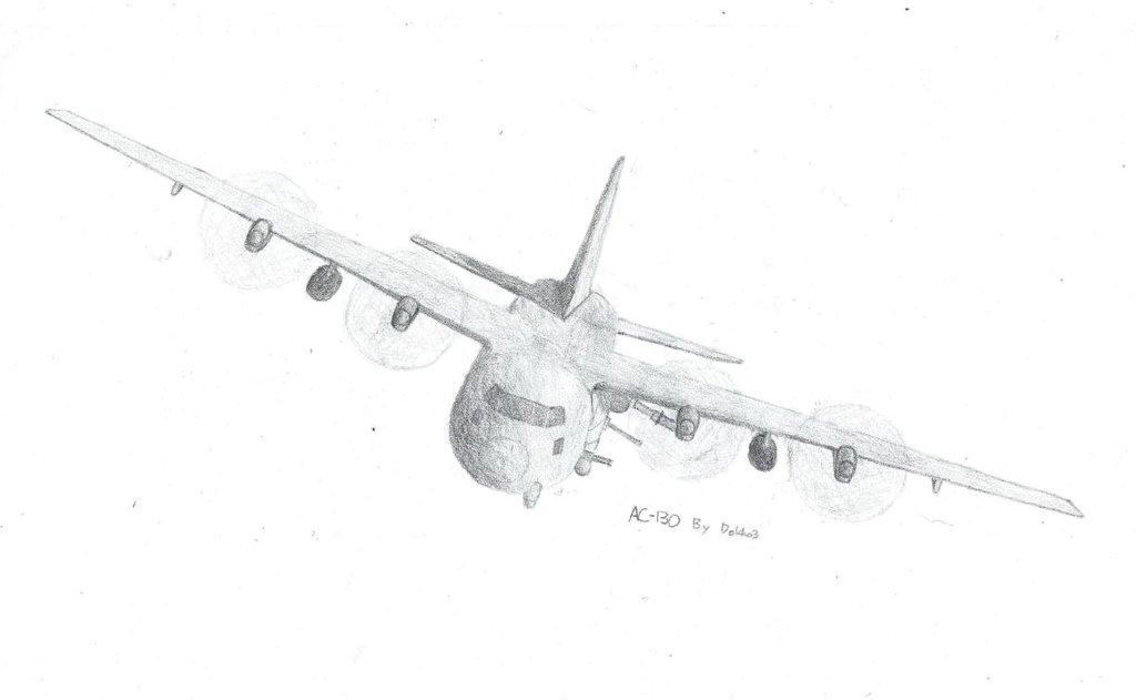 Drawn airplane ac 130 Ac DeviantArt Ac on 130