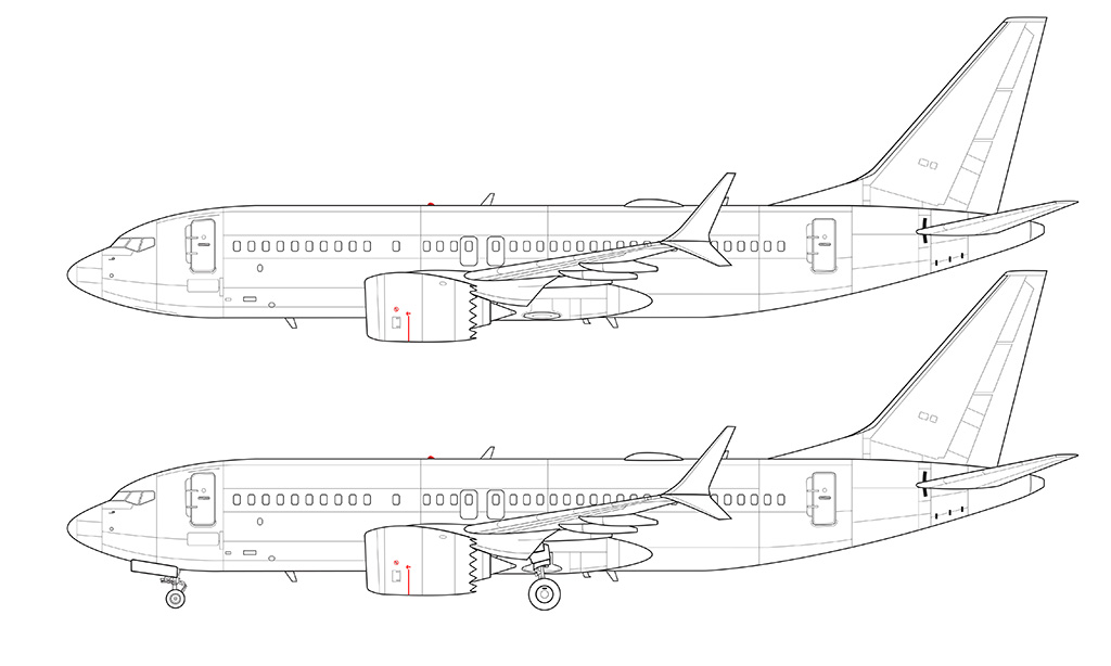 Drawn aircraft airline #1