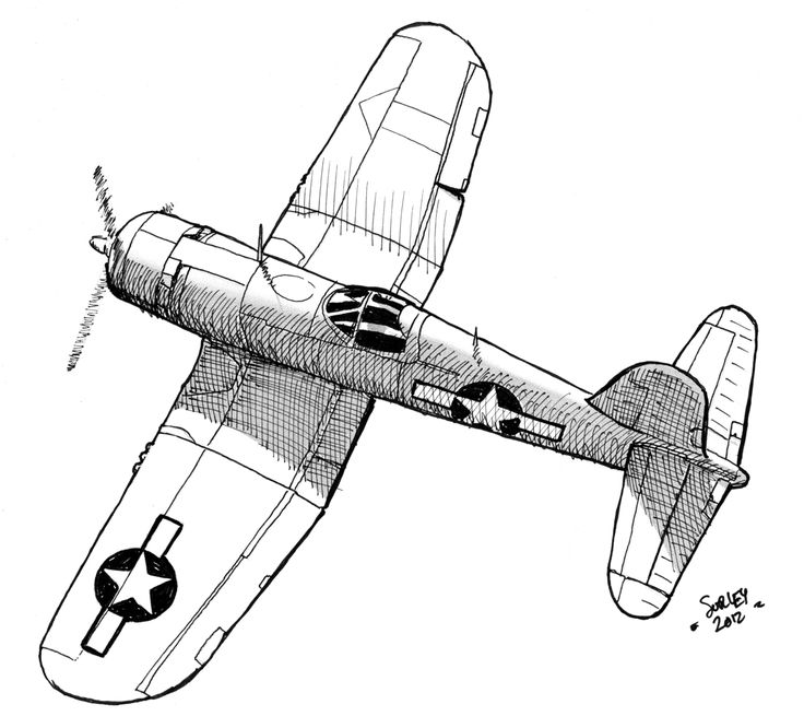 Drawn aircraft coloring page 25+ plane Ww2 WW2 for