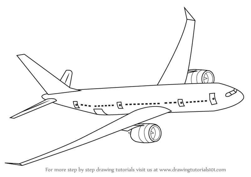 Drawn airplane airplane flying By Step Boeing Learn Flying