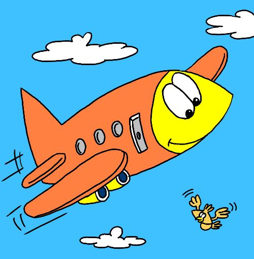 Drawn airplane animated Art easy Airplane page and