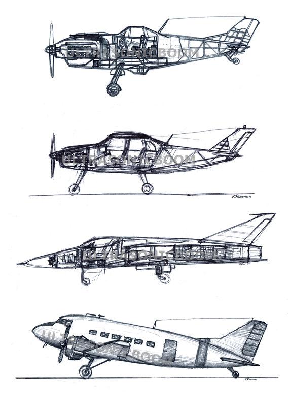 Drawn aircraft car #3