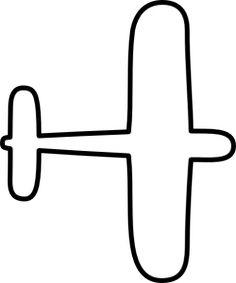 Airplane clipart stencil #2