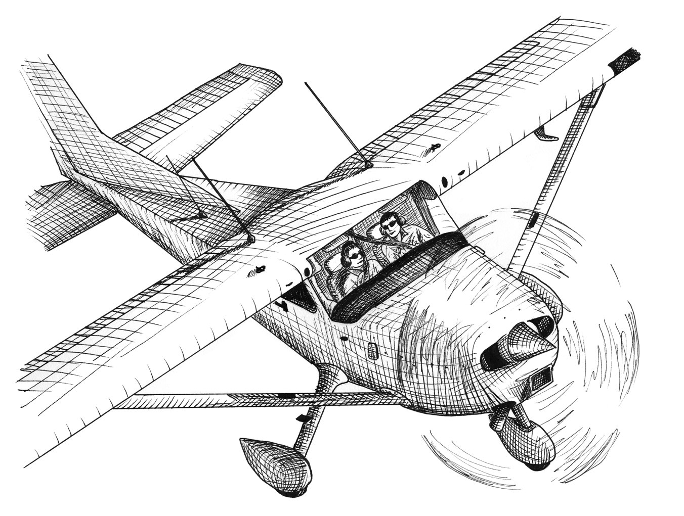 Drawn airplane black and white Aviation Lessons Tes Teach