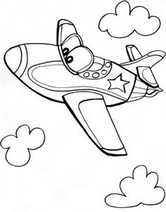 Drawn airplane black and white Boy pages and Black Clip