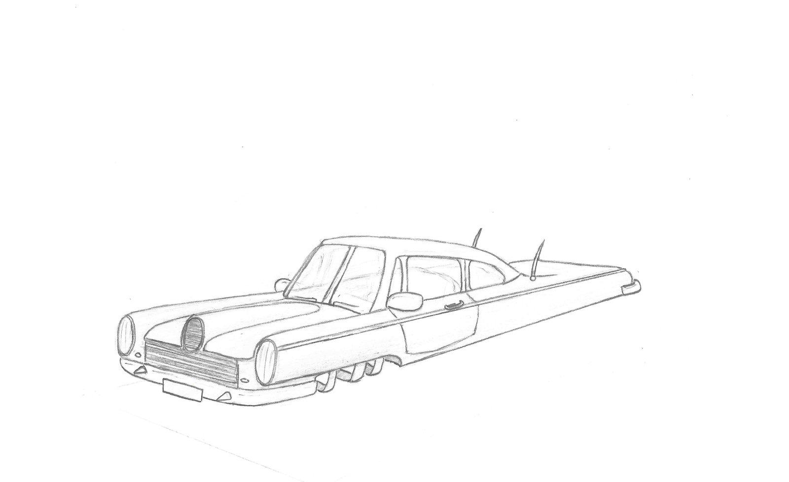 Drawn airplane car #5