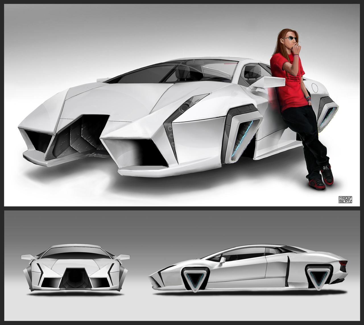 Drawn car future #13