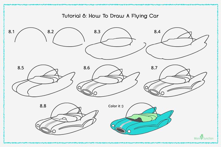 Drawn airplane car #8