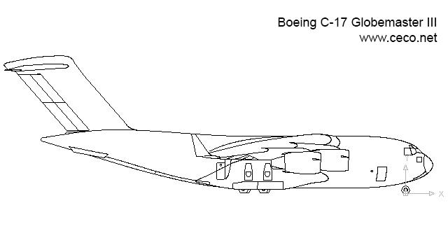 Drawn airplane cargo plane #15