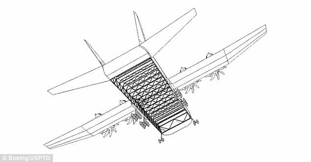 Drawn airplane cargo plane #8