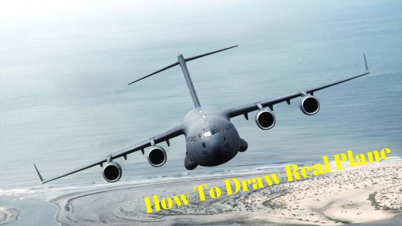 Drawn airplane cargo plane #4
