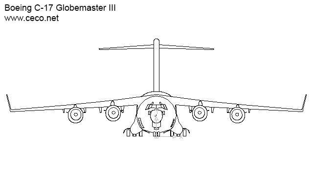 Drawn airplane cargo plane #3