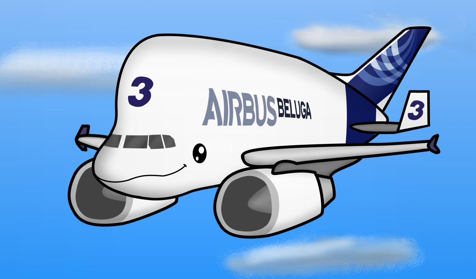 Drawn airplane chibi By WindyThePlaneh Beluga (A320TheAirliner's