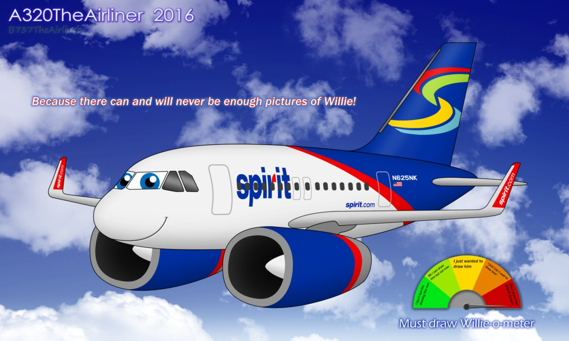 Drawn airplane chibi By A320TheAirliner Willie (A320TheAirliner's