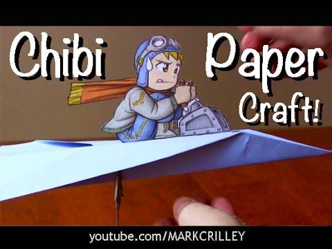 Drawn airplane chibi Chibi Pilot Drawing YouTube (Paper