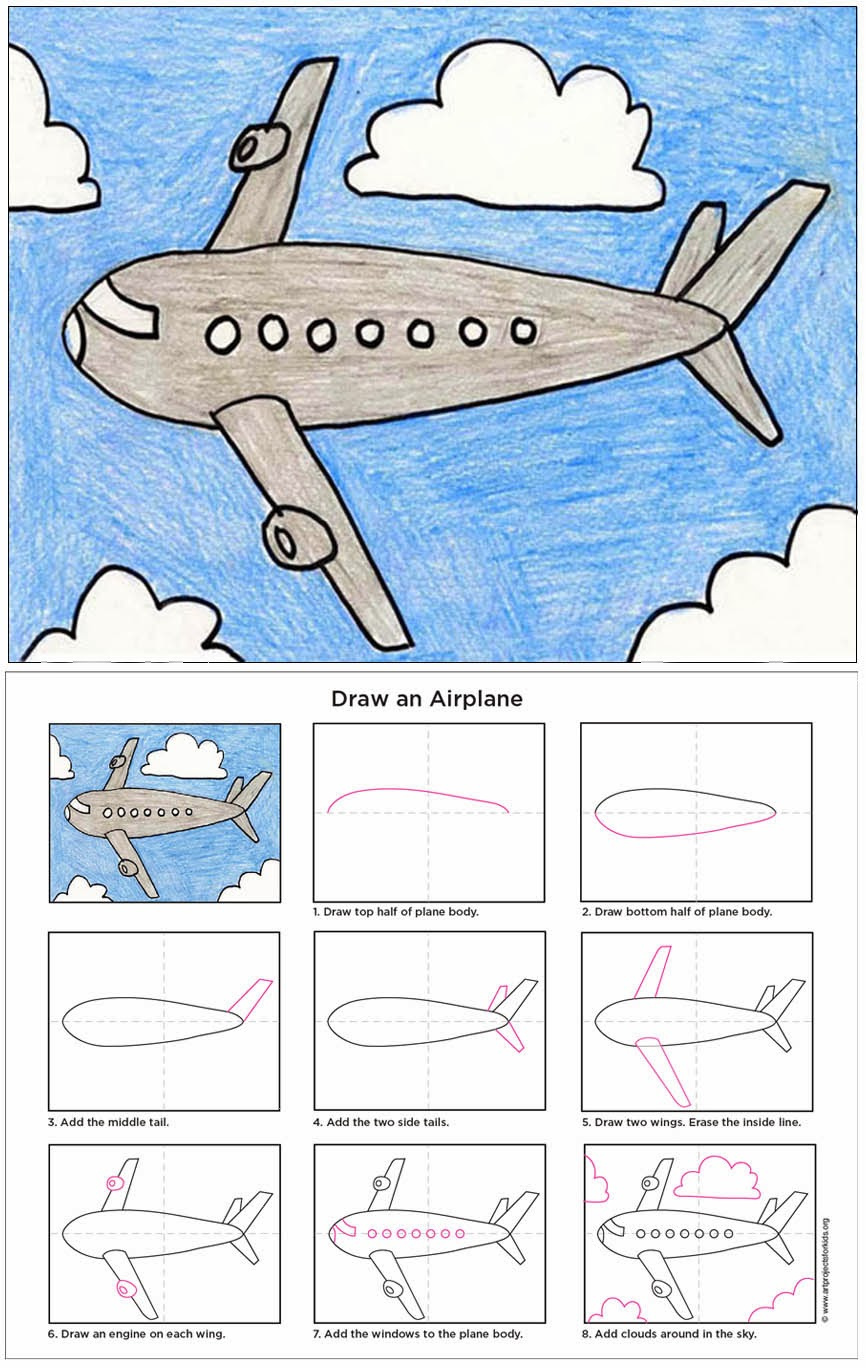 Drawn clouds doodle Available How Kids: Airplanes that
