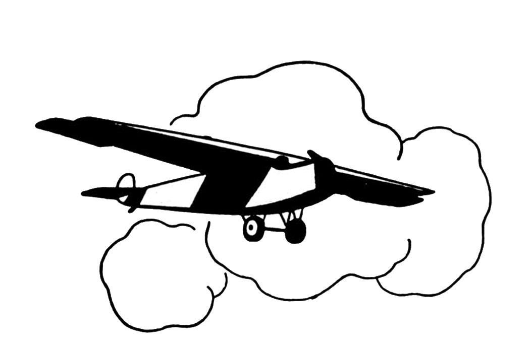 Drawn aircraft clipart white #2