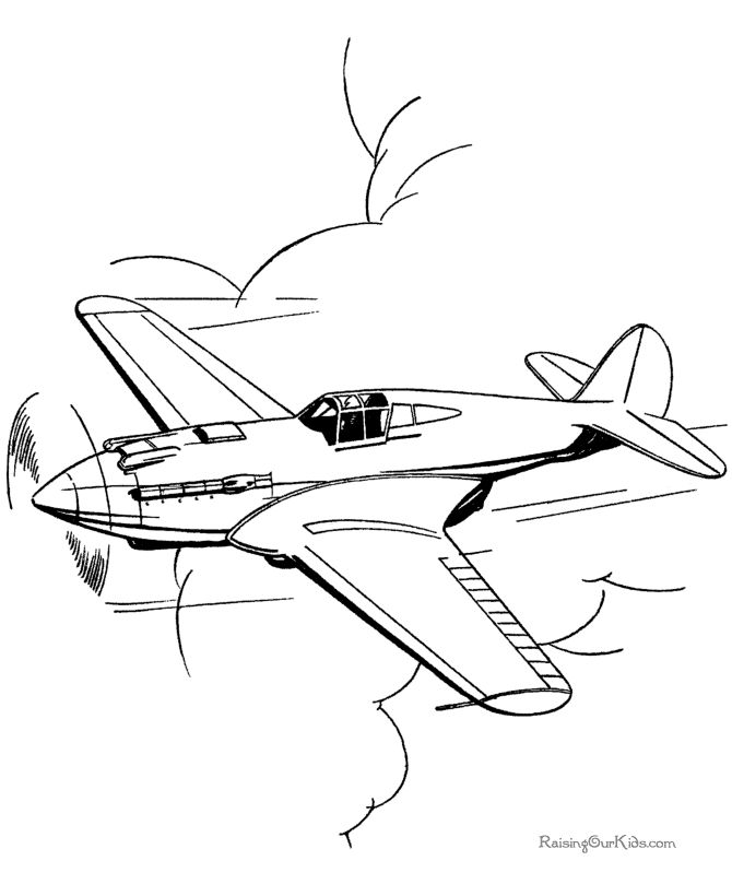 Drawn aircraft coloring page Best for Coloring airplanes of
