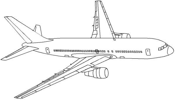Drawn aircraft coloring page Airplane print  print Color