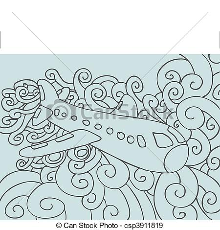 Drawn airplane doodle Airplane EPS  Search Art