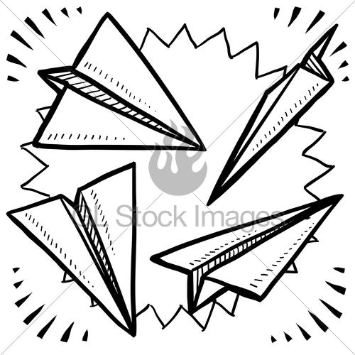 Drawn airplane doodle #1