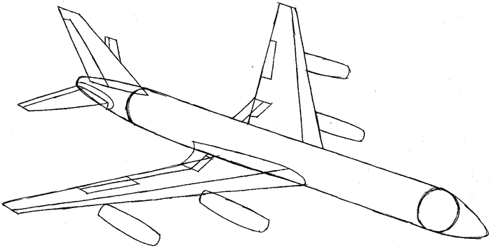 Drawn aircraft easy Draw an with Airplane to