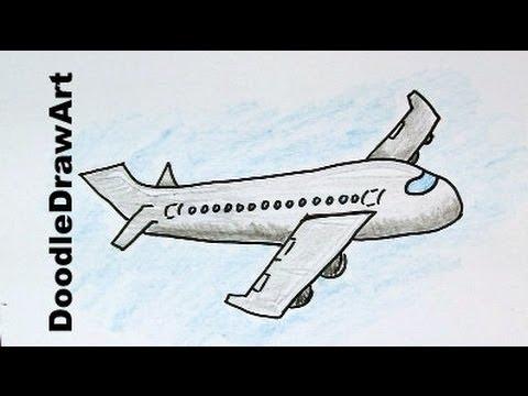 Drawn aircraft easy How Cartoon a Airplane Kids!
