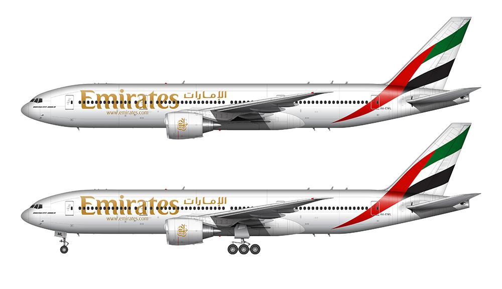 Drawn aircraft emirates #1