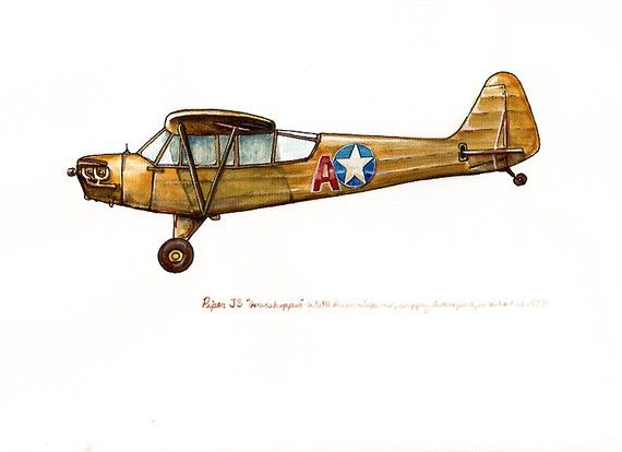 Drawn airplane flight 8x10 25+ print ideas vintage