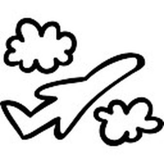 Drawn airplane flight Outline Photos Airplane files flight