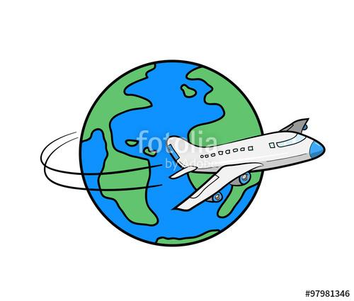 Drawn globe Of the a Travel drawn