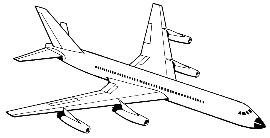 Drawn airplane line drawing Clip Airplane Download  Free