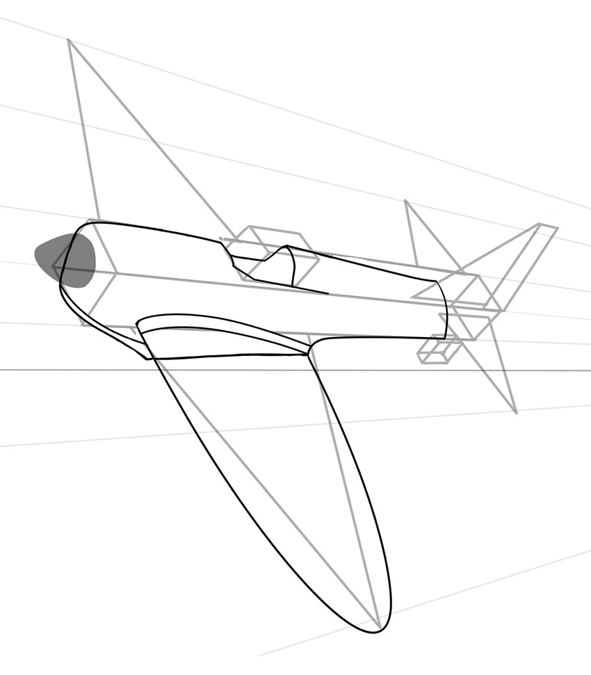 Drawn airplane line drawing A main to From Scratch