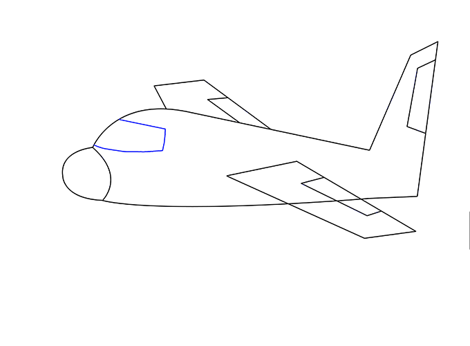 Drawn airplane line drawing An an 12 Drawing Guides