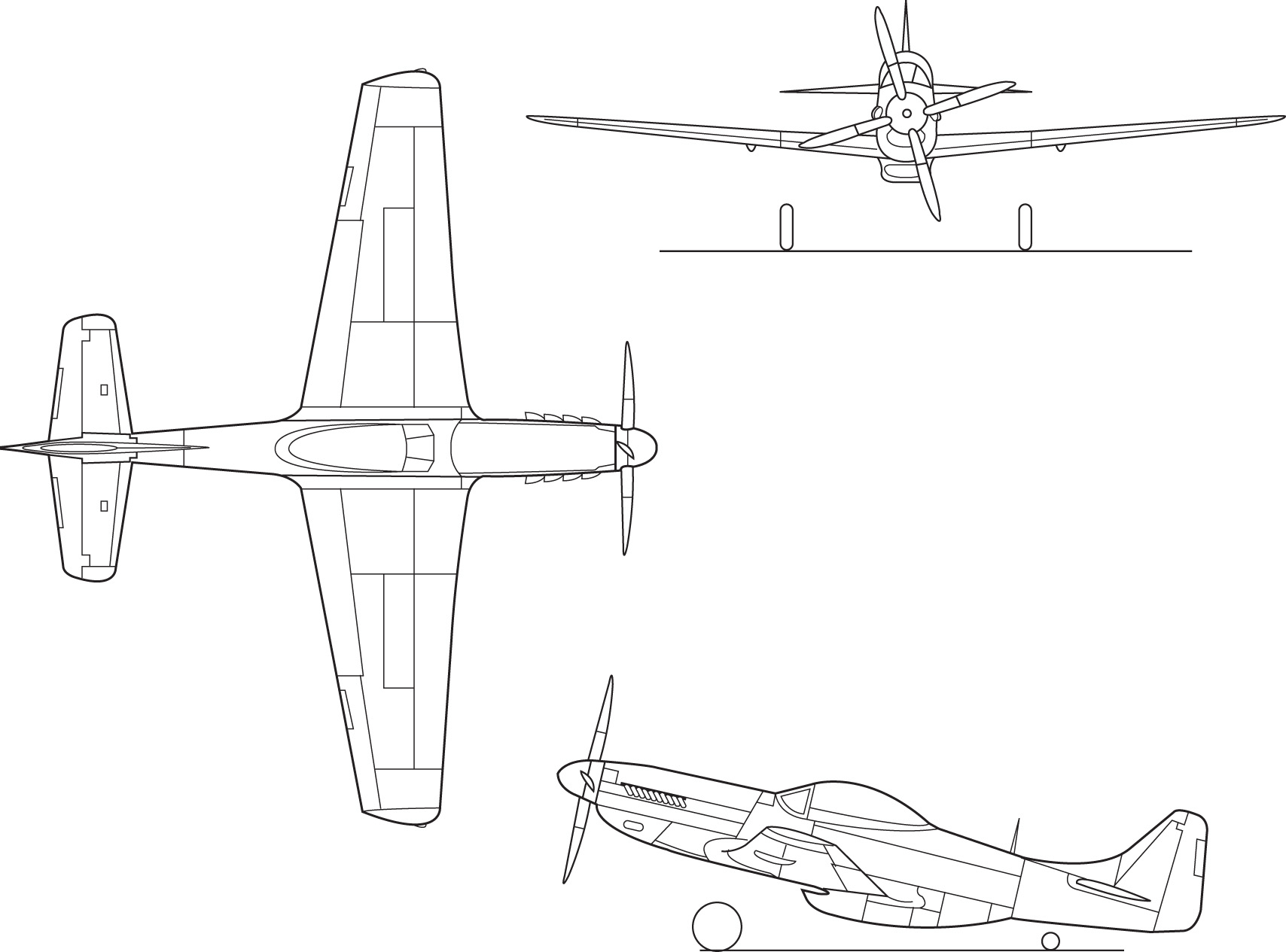Drawn aircraft mustang #15
