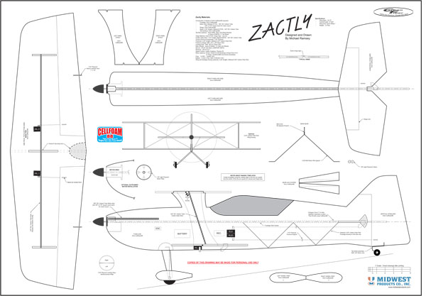 Drawn aircraft rc plane Plans plans simple indoor plane