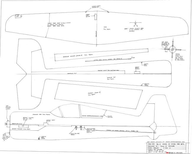 Drawn aircraft rc plane Model plans aircraft Best Rc