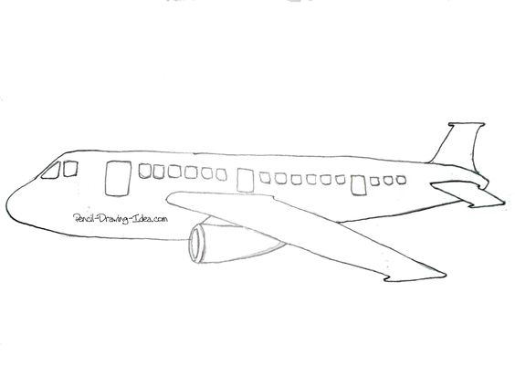 Drawn airplane realistic #3