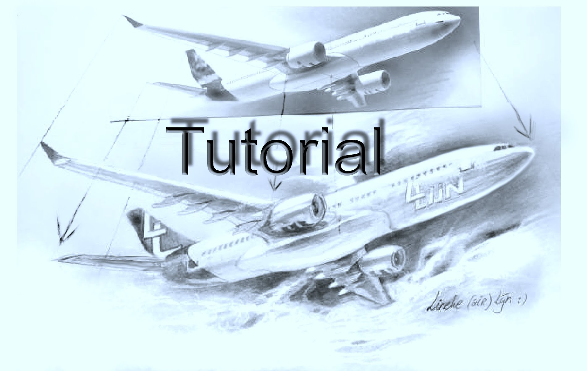 Drawn airplane realistic #2