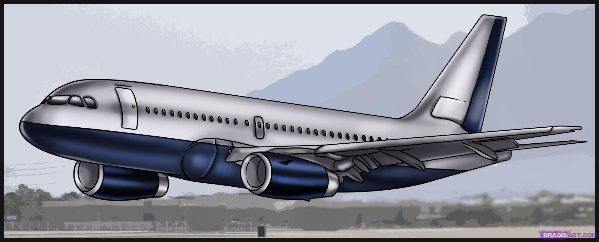 Drawn airplane realistic #1