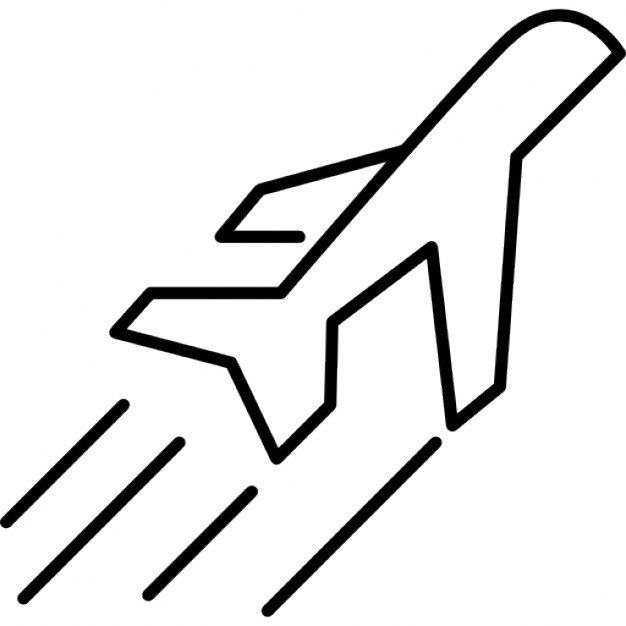 Drawn airplane side view Flight view in Airplane Icons