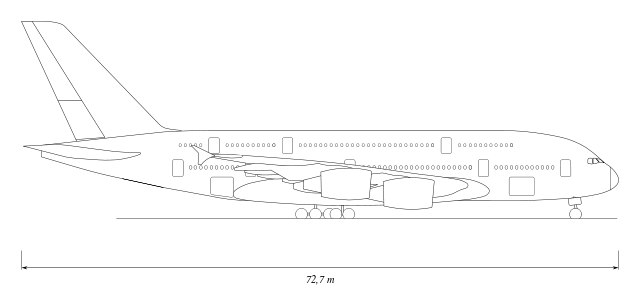 Drawn airplane side view 152 svg × A380 File:Airbus