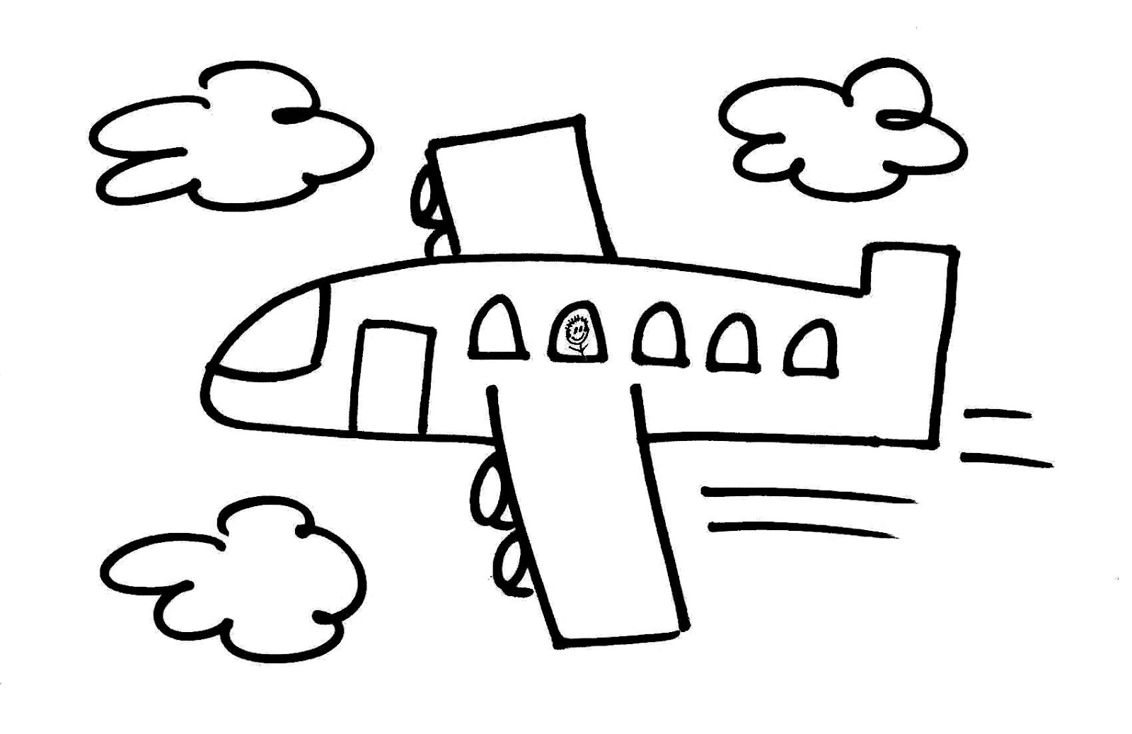 Drawn airplane stick figure And large Up  on