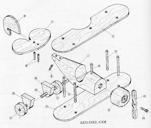 Drawn airplane toy line #6