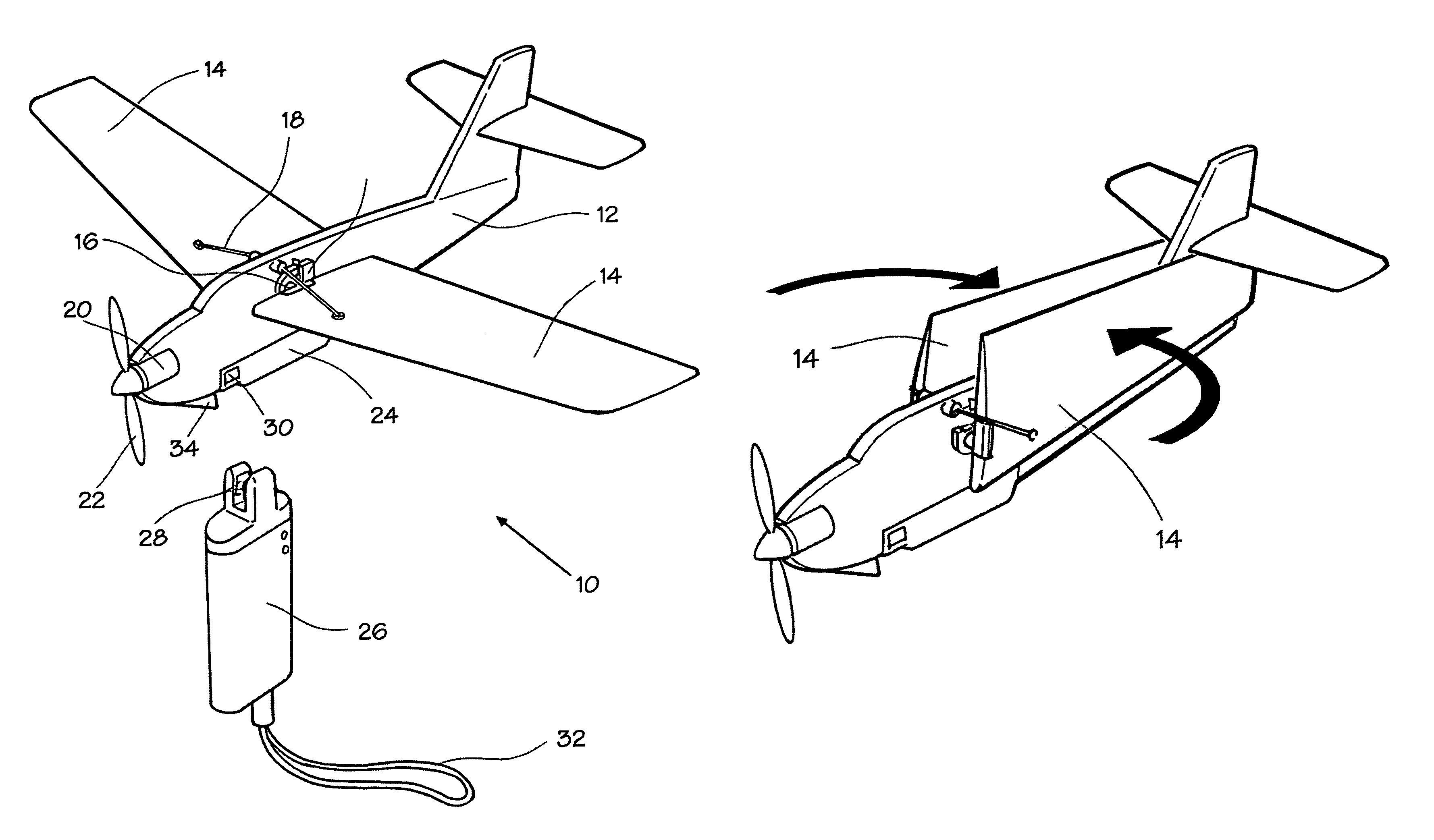 Drawn airplane toy line #10