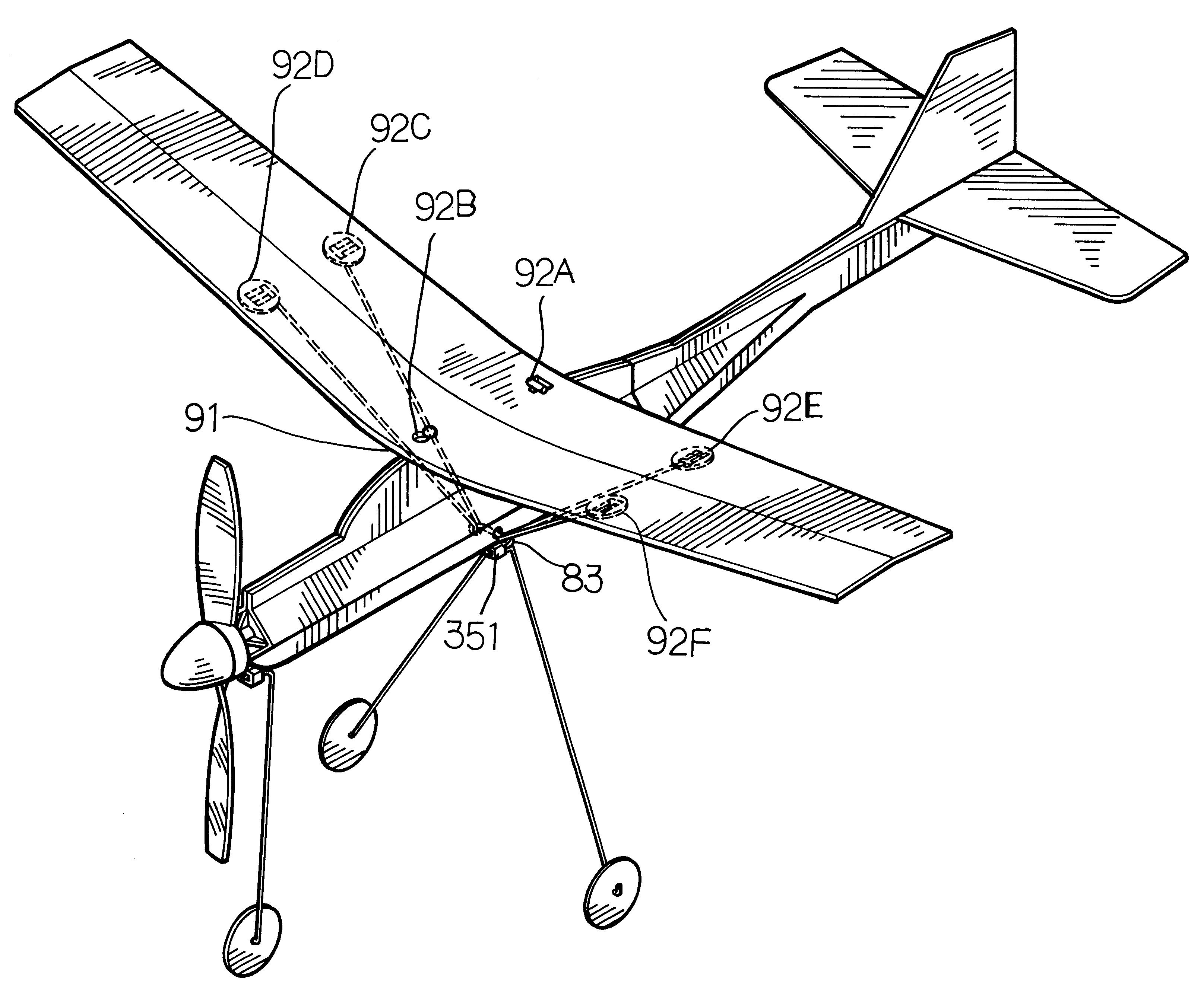 Drawn airplane toy line #8