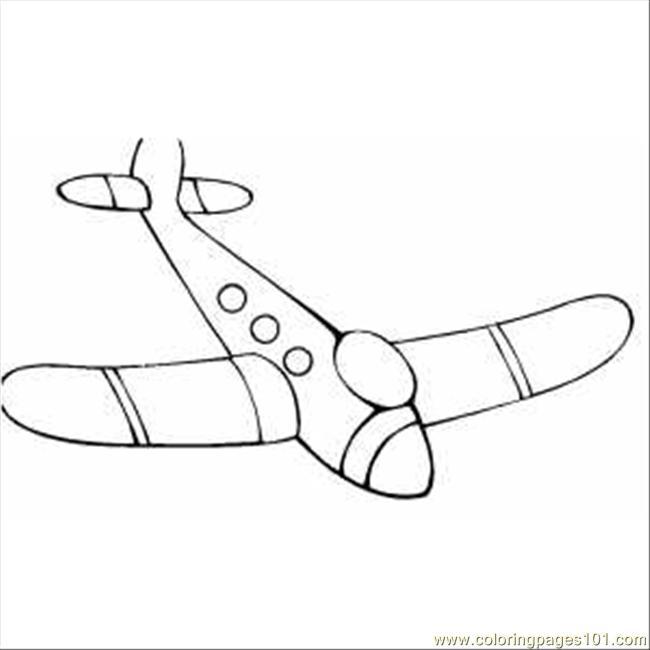 Drawn airplane toy line #2