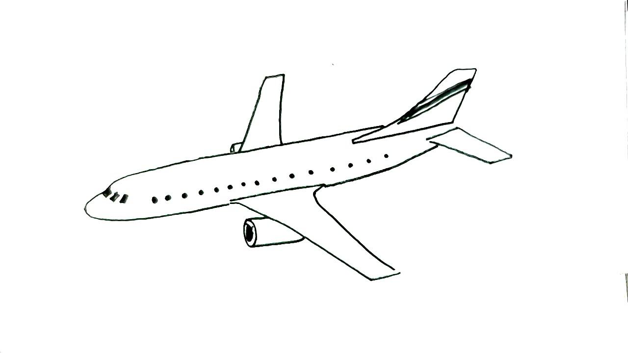 Drawn airplane toy line #9